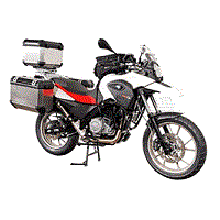 BMW GS WITH PANNIERS AND TOP BOX MOTORBIKE COVER